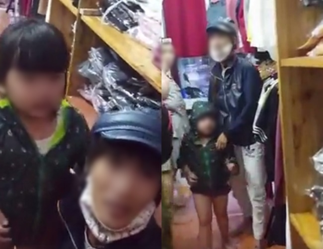 Mẹ đi ăn trộm bị bắt: Con 4 tuổi liên tục quỳ lạy van xin