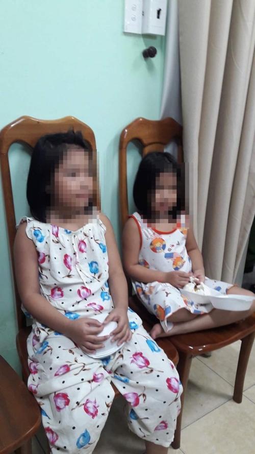 """Hai bé gái bị """"giam lỏng"""" nhiều ngày được Công an giải cứu an toàn."""