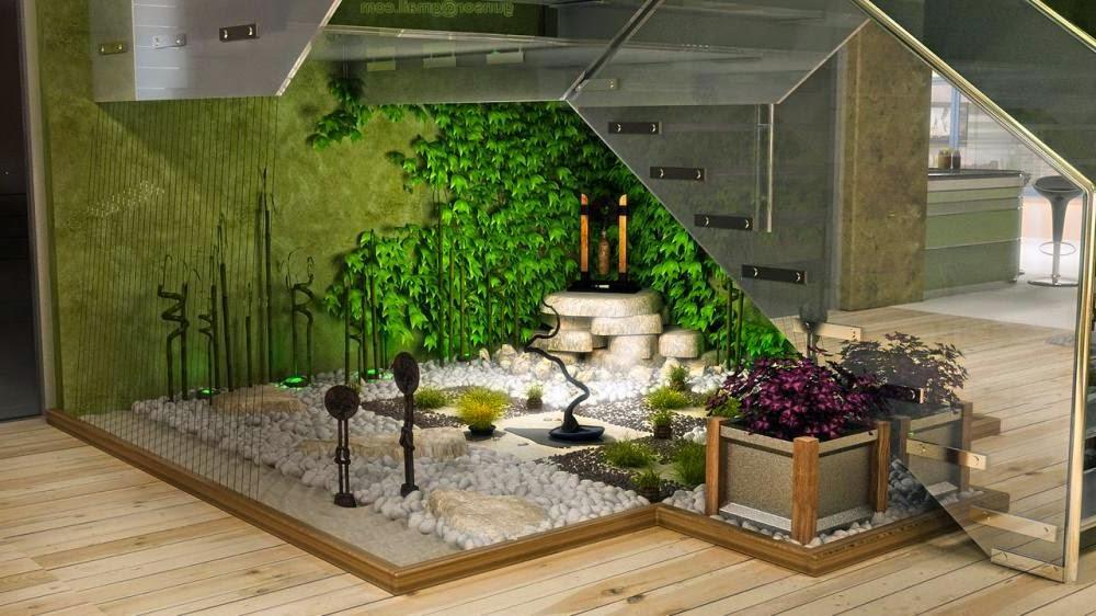 vườn cây cảnh trong nhà
