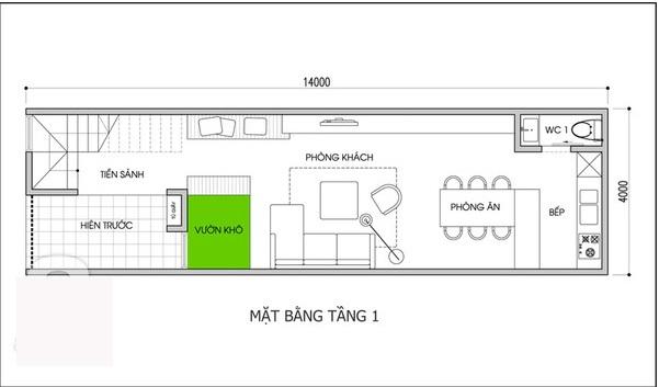 Tư vấn xây nhà ống 2 tầng 3 phòng ngủ hiện đại chỉ với 400 triệu