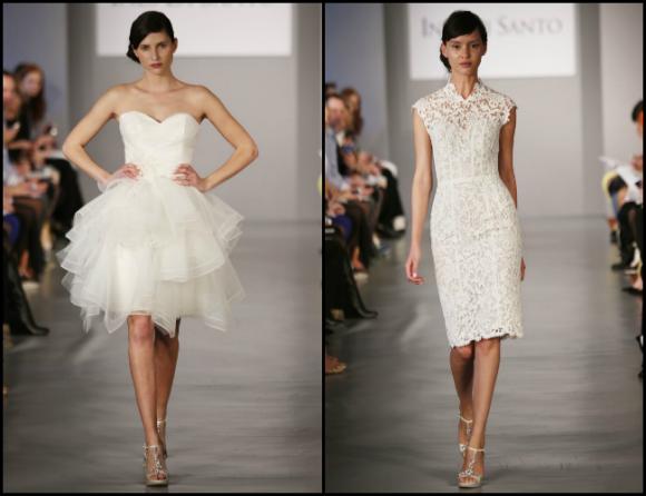 Mẫu váy cưới ngắn xu hướng 2014 năng động và trẻ trung