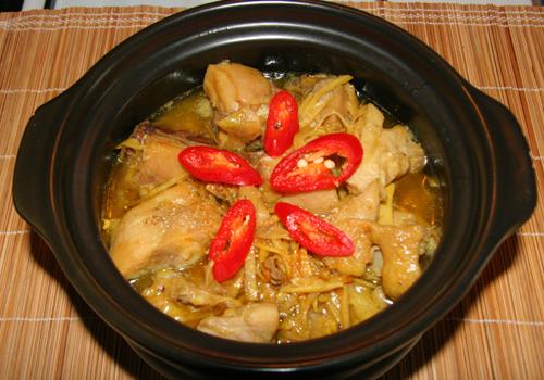 thịt gà rim nước tương