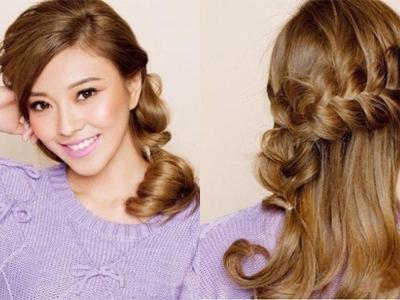 Kiểu tóc đẹp giúp nàng thu hút hơn trong tiệc cưới