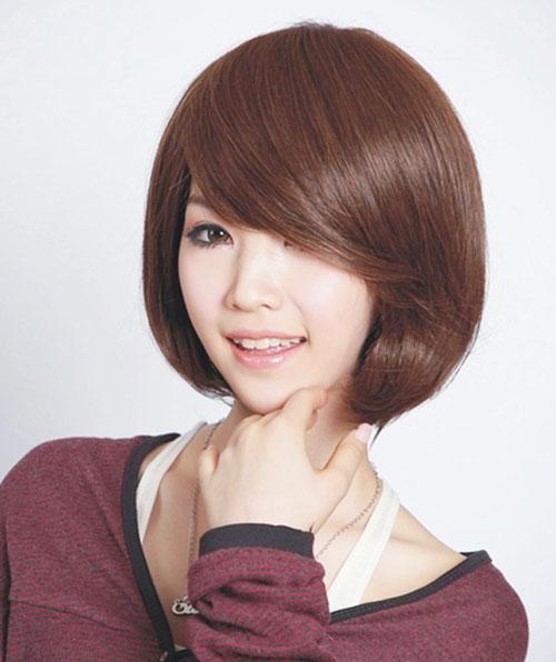 Những kiểu tóc mái ghi điểm cho khuôn mặt tròn