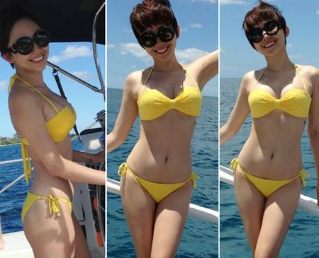 Cùng Tóc Tiên diện bikini khiên phan thót tim