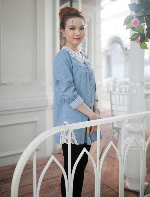Kiểu váy áo đẹp giúp mẹ bầu tự tin và duyên dáng 10