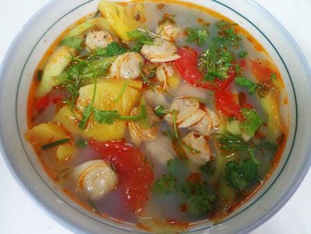 ẩm thực canh ngao