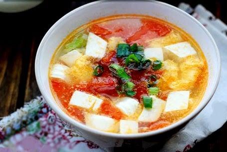 Image result for cách nấu canh đậu phụ