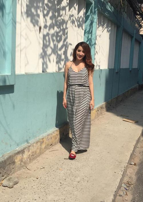 Học Khánh Thi diện thời trang bà bầu cực chất như thời con gái  3