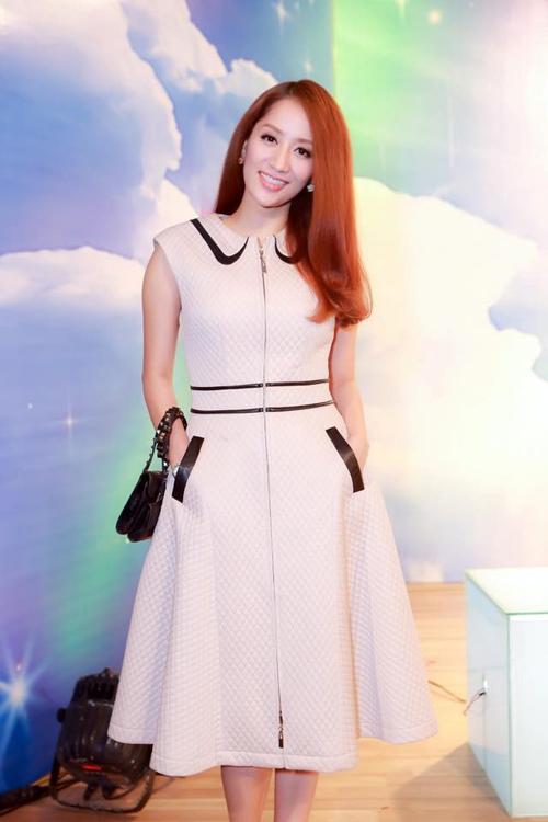Học Khánh Thi diện thời trang bà bầu cực chất như thời con gái  5