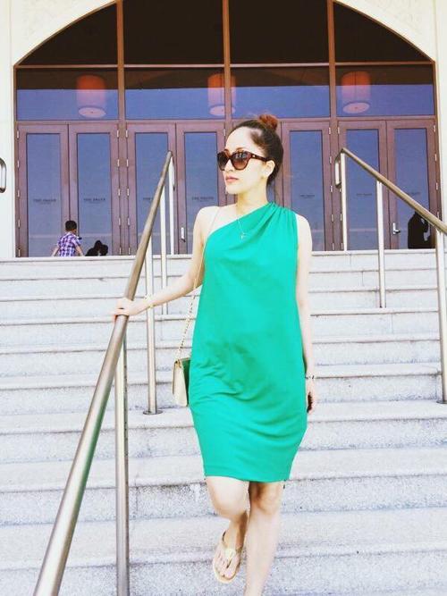 Học Khánh Thi diện thời trang bà bầu cực chất như thời con gái  8