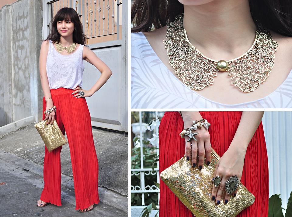 Mách bạn cách mix đô cực chất với quần palazzo xu hướng thời trang 2015