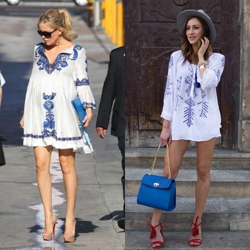 Chọn váy bầu mùa thu trẻ trung cho các mẹ diện đi làm 7