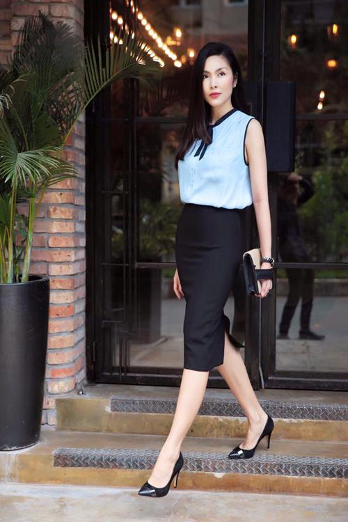 Gợi ý cách mặc thời trang công sở đẹp như Tăng Thanh Hà