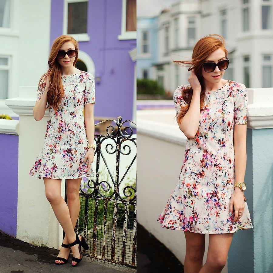 Bạn gái nổi bật ngày hè cùng váy hoa sắc màu