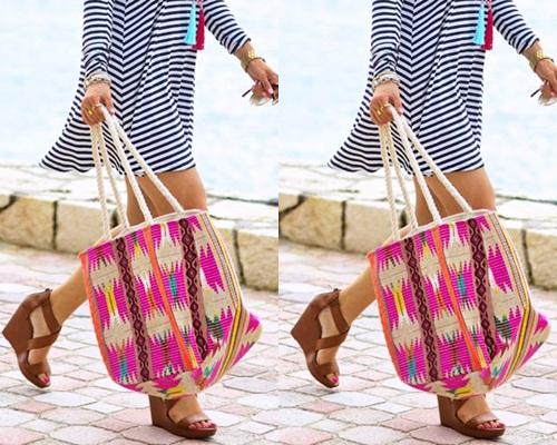 Mách bạn gái 10 mẫu túi xách cho bạn gái đi biển cực sành điệu