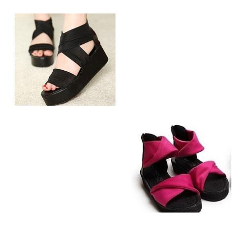 Đón thu lãng mạn với sandal vải 11
