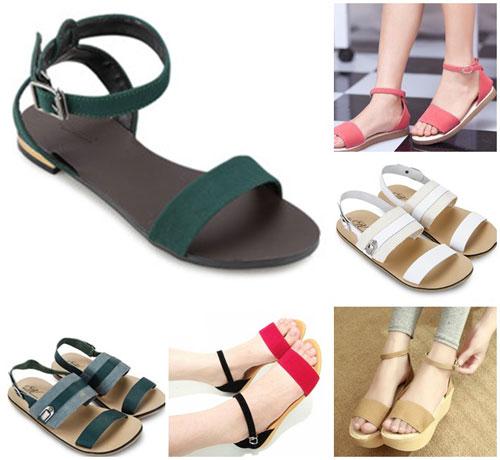 Đón thu lãng mạn với sandal vải 6