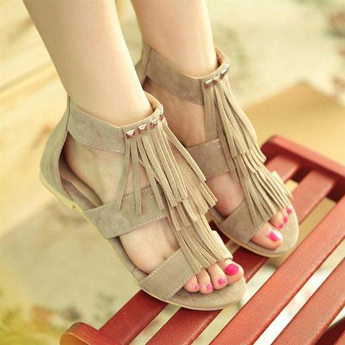 Đón thu lãng mạn với sandal vải 7