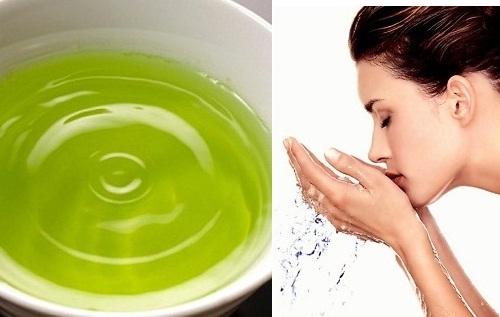 Chỉ nên dùng nước lá chè xanh rửa mặt 2 lần/ tuần