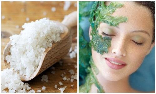 Muối biển cũng giúp tăng độ đàn hồi và dưỡng da mềm mại đồng thời chống lão hóa cho da.